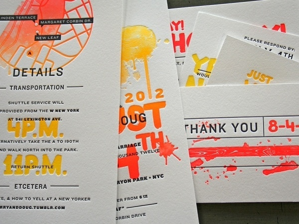 Terry & Doug Wedding | Studio On Fire #letterpress #invitation