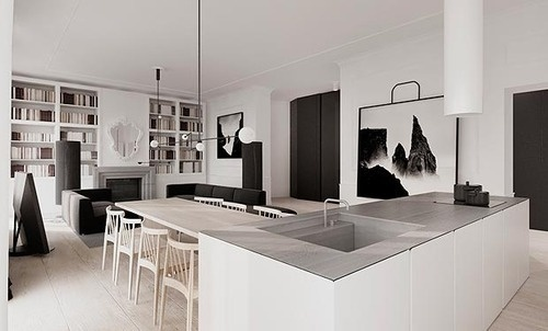 Kevin H. Chung #interior #home #clean #kitchen #art