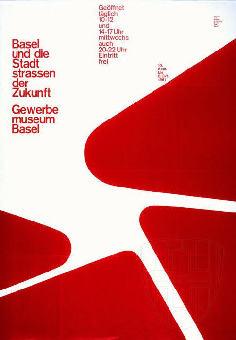 Armin hofmann gewerbe museum basel poster 1961 in posters for Armin hofmann