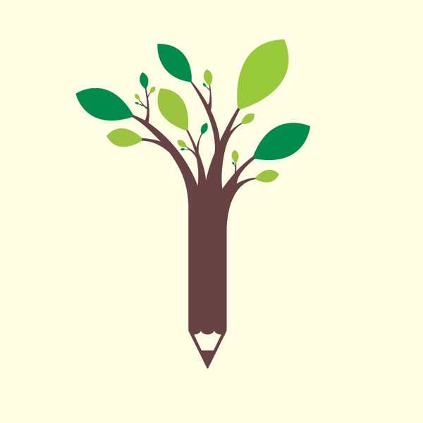 Behance :: Editing Logos #tree #design #graphic #illustration #education #logo #pencil