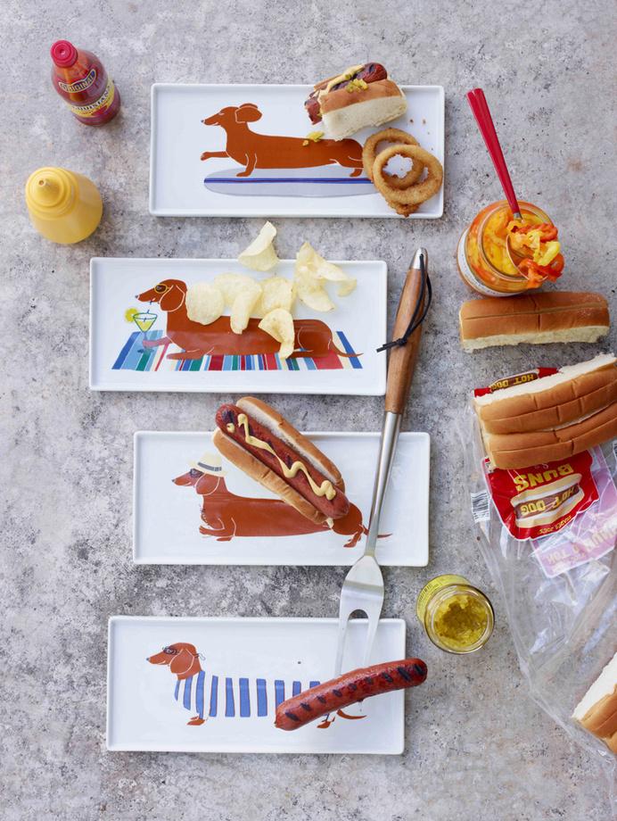 West Elm Spring 2013 #design #dogs #food #illustration #plates