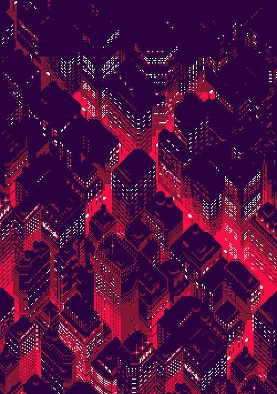 Illustration by vgjunk #two #city #colour #pixel