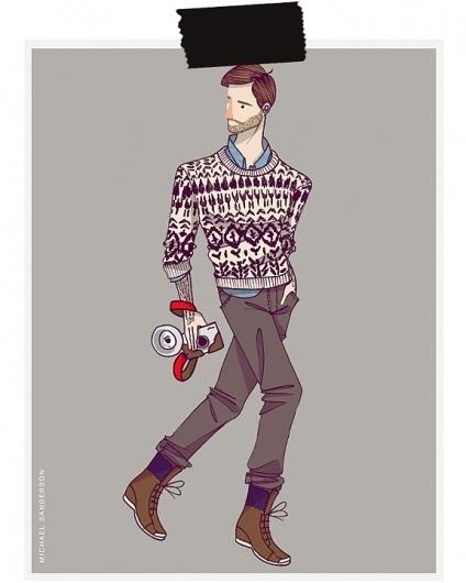 MICHAEL SANDERSON™: Design & Branding #fashion #illustration #men