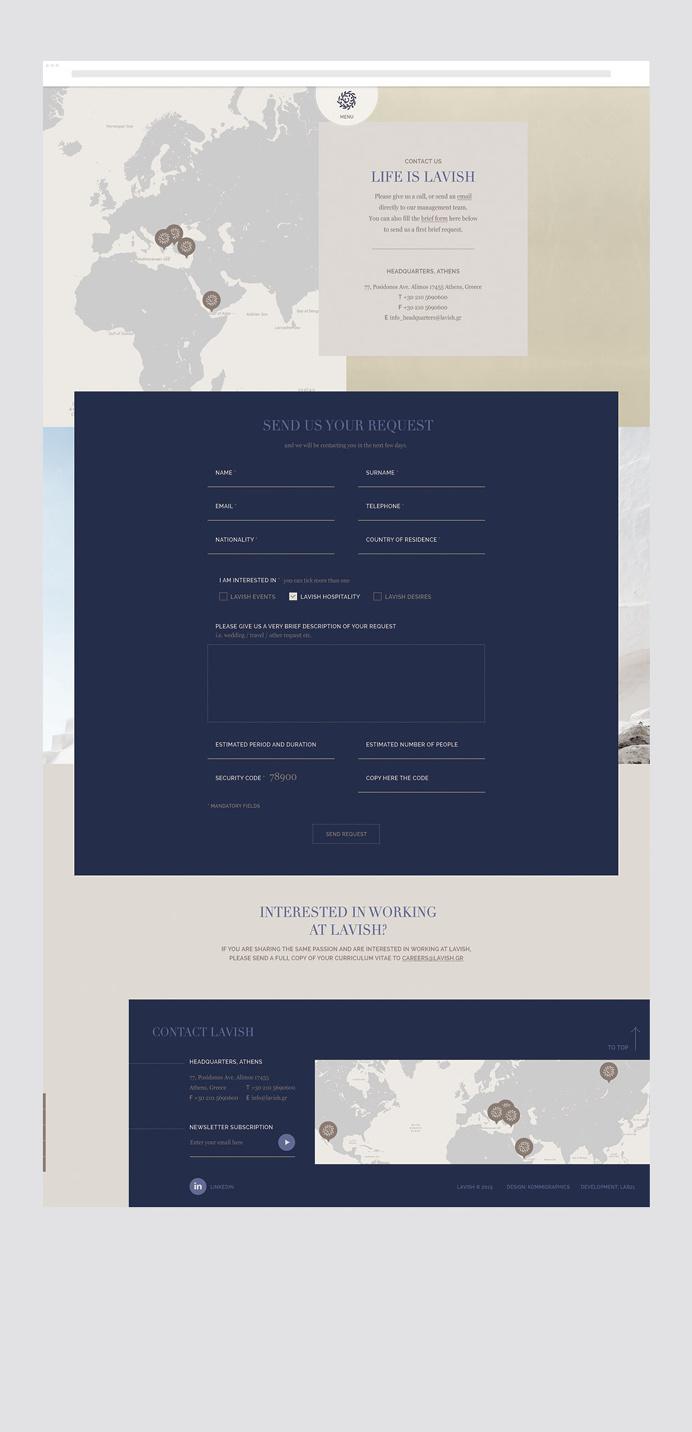 #lavish #luxury # web #design #typography #UI #UX #greek #interactive #map
