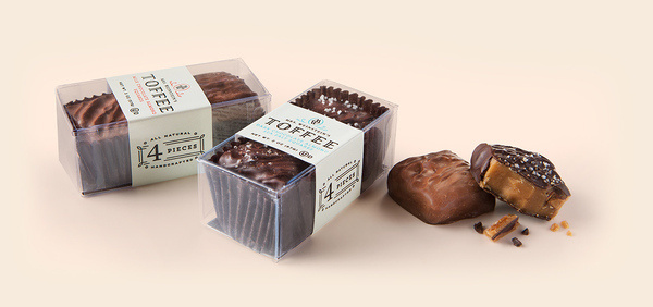 Toffee Sample Box #packaging #candy #design