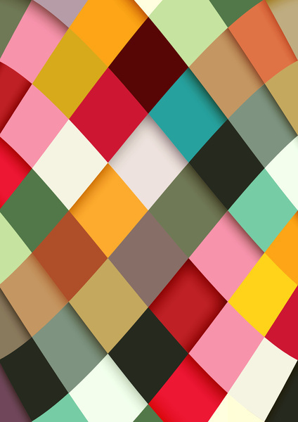 Colorful Art Print #pattern #danny #design #graphic #ivan #diamonds #colour