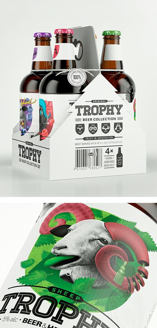 Trophy Beer by Galya Akhmetzyanova #packaging #beer
