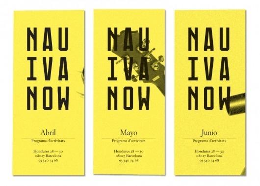La Nau Ivanow   StudioAparte #logotype #aparte #grid #ivanow #identity #studio #nau #brochure #typography