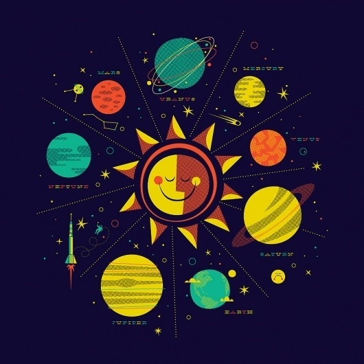 The Inspiration Stream | Veerle's blog 3.0 - Webdesign - XHTML CSS | Graphic Design #planets #illustration #stars #sun