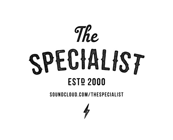 THE SPECIALIST #texture #lightning #identity #logo #typography