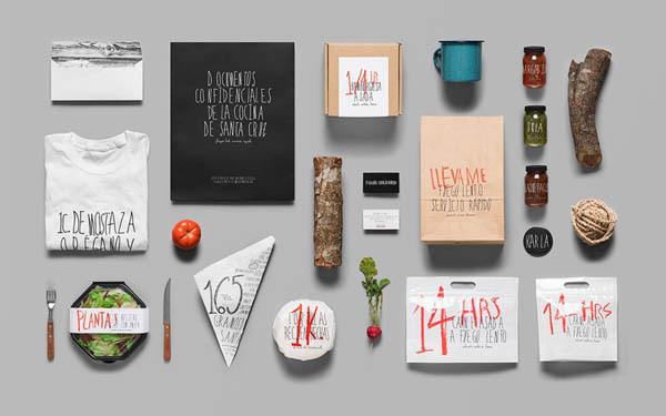 Santa Cruz Mexican BBQ Restaurant Brand Identity by Anagrama #design #branding #typography
