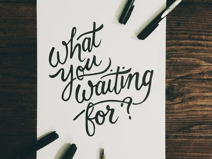 What You Waiting For? #lettering #script #type #hand #typography