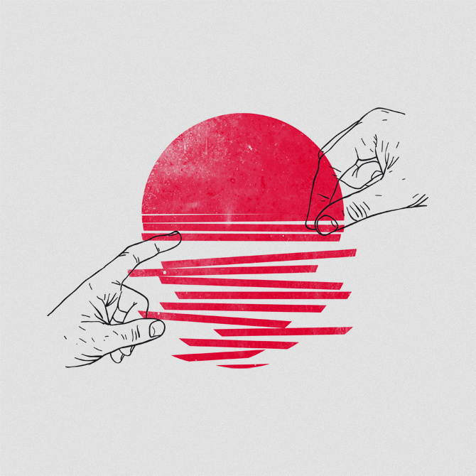 Sunrise | Flickr - Photo Sharing! #illustration #sun #hands #sunset