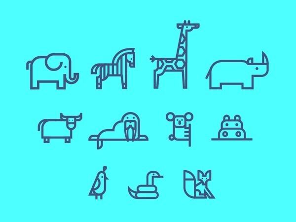 Animal Icons #illustration