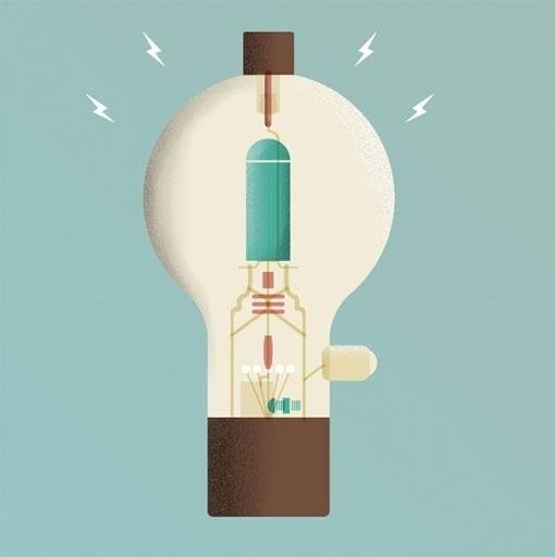 design work life » cataloging inspiration daily #illustration #lightbulb