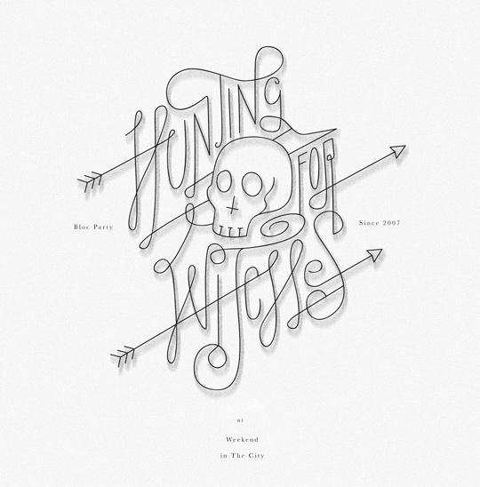 bloc party #lettering #script #adityawijanarko #band #typography