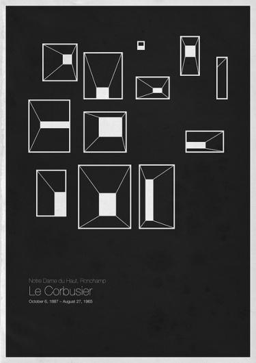 Six Architects in minimal poster design | I Wanna Be An Art Director #artchitect #design #minimal #poster
