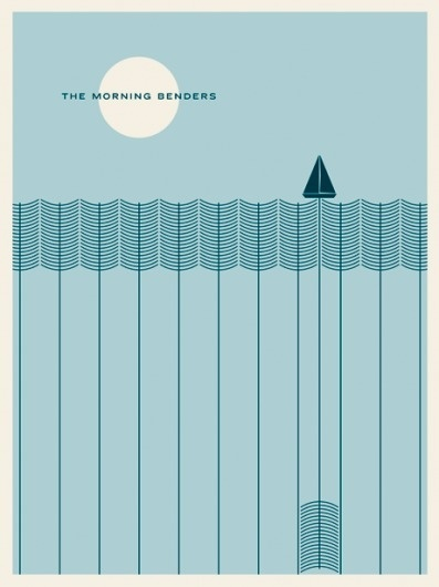 JASON MUNN - The Morning Benders - Poster #munn #jason #screenprint #the #benders #morning