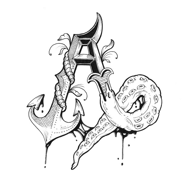 Love Letters Hand Drawn Alphabet On Behance Illustration Typography Lettering