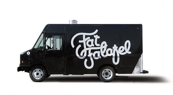 Fat Falafal #truck #branding #vehicle #food #logo