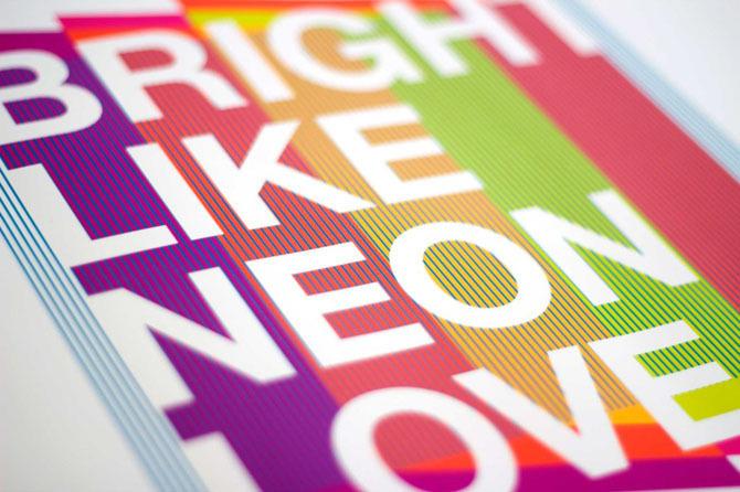 Explorations + Experimentation - Nicole #helvetica #color #neon