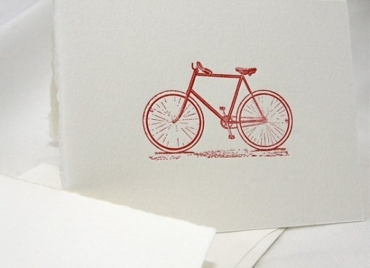 The Bike letterpress card by CabbageCreative on Etsy #cabbage #letterpress #creative #bike