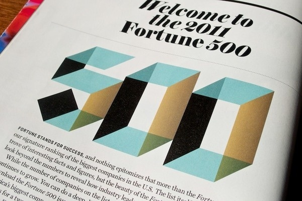 Fortune 500 welcome page #shaded #design #publication #type #layout #editorial #typography