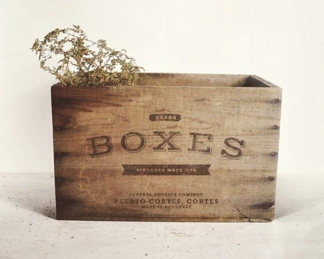 Free Retro Boxes Mockup PSD