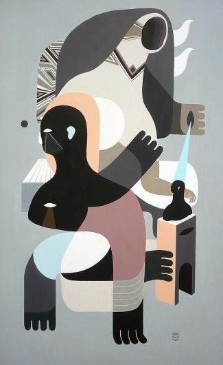 All sizes | The seeker. | Flickr - Photo Sharing! #vrancken #olivier #holland #netherlands #illustration #painting #dutch #grey