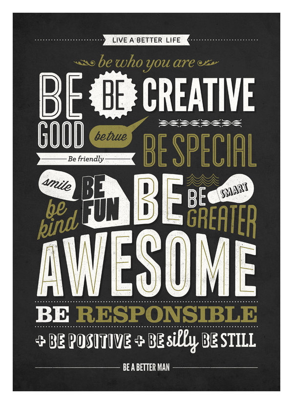Motivational typography poster #print #neuegraphic #vintage #poster #be #greater #typography