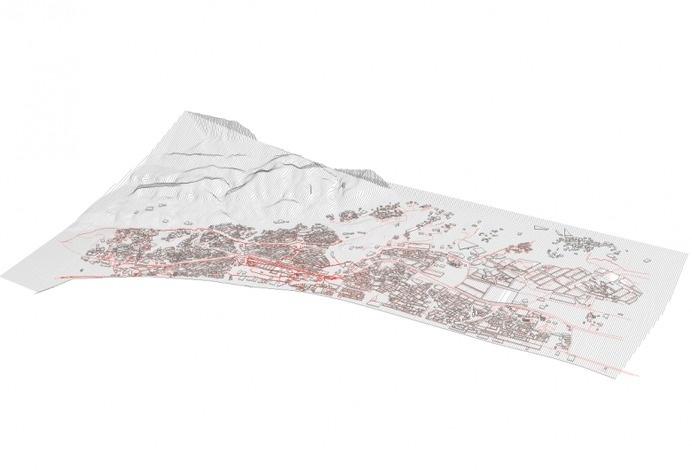 3D stratified model - Athaibah, Oman #map #gis