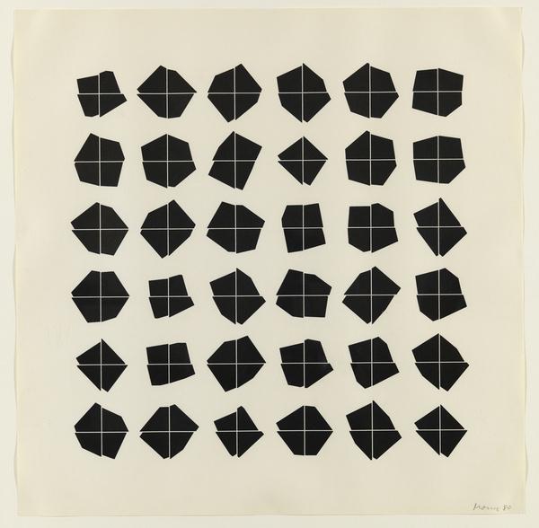 Manfred Mohr #print #graphic #geometric #plotter