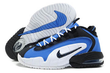 Air Penny 1 Black and White Blue Basketball Men Shoes #shoes