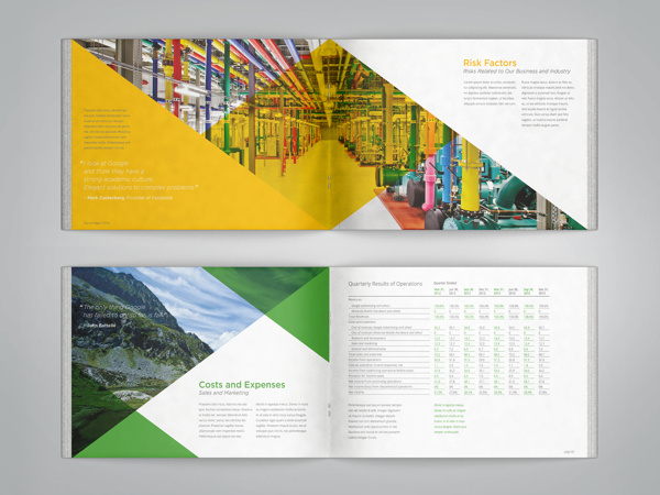 Google Annual Report on Behance