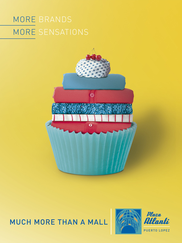 Much More Plaza Atlanti - Advertising #colourful #grzunov #yellow #mode #advertising #cupcake #brands #ad