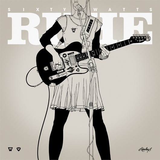 Silence Television #guitar #illustration #girl