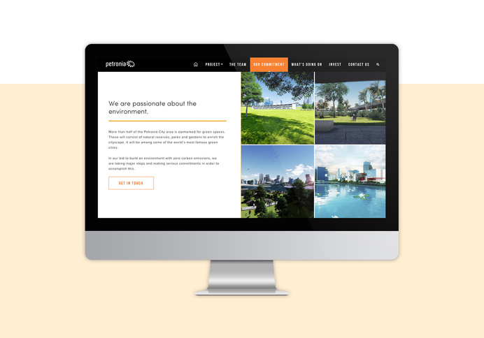 Petronia City Website design