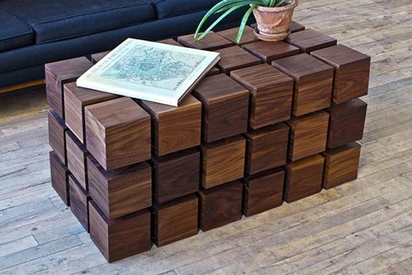 Check out this floating block table that utilizes magnets to float and maintain shape! #design #home #product #furniture #industrial
