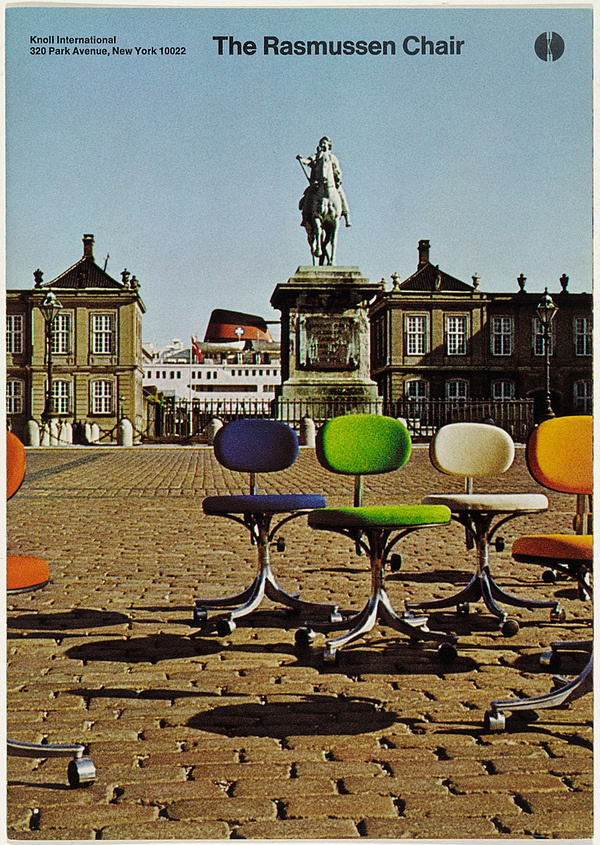 The Rasmussen Chair Cover by Massimo Vignelli #massimo #vignelli #advertising #cover #knoll