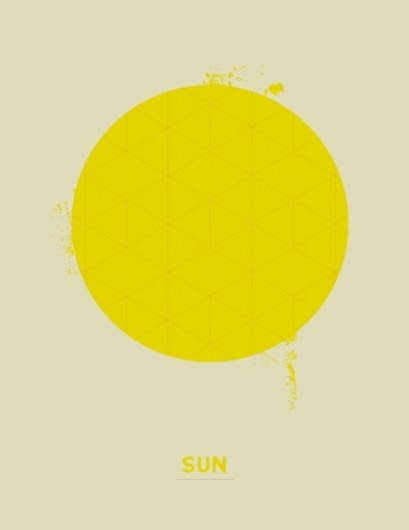 SUN - Korbel-Bowers #sun #yellow #design #graphic #poster #circle