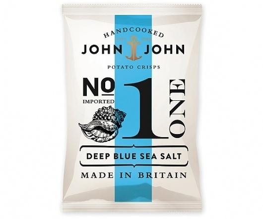 Packaging In Brief: John & John Crisps « BP&O – Logo, Branding, Packaging & Opinion by Richard Baird #packaging #chips #crisps
