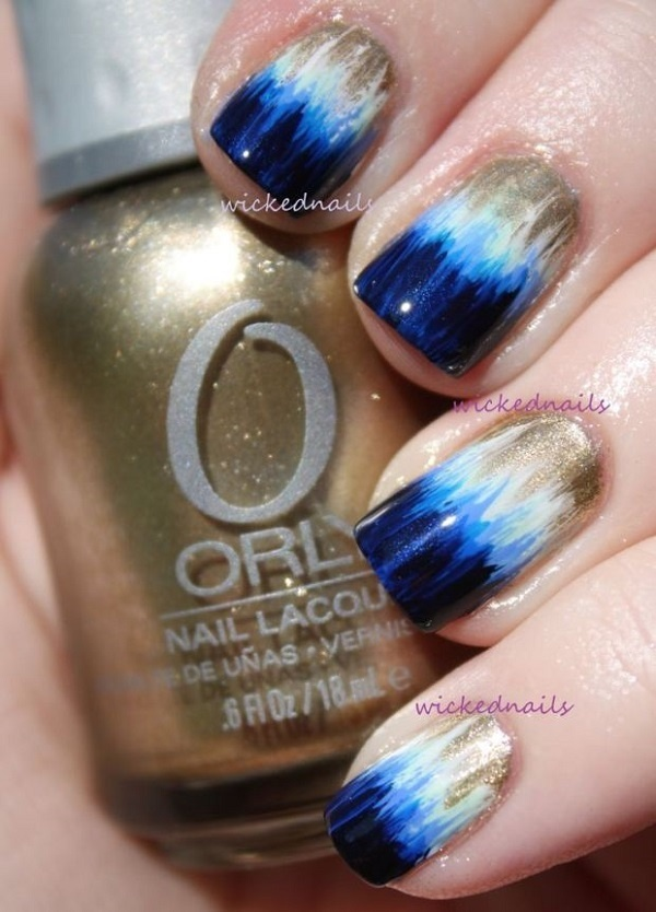 Best Ombre Nail Designs Blue White images on Designspiration