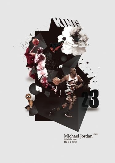 Michael Jordan. on the Behance Network #ink #design #graphic #illustration #flower