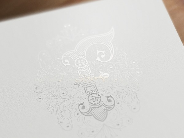 Monogram f #print #ornate #typography