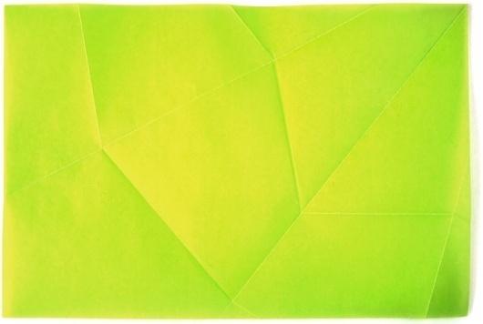 PAPIER TRIANGLE PLIÉ #fluorescent #design #graphic #experimental #folding #paper