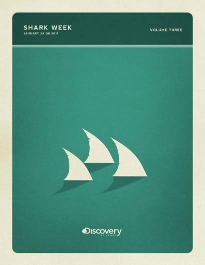 Minimal Poster Design - Shark Week on the Behance Network #retro #sharks #colors #posters #vintage