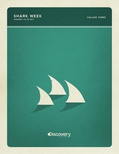 Minimal Poster Design - Shark Week on the Behance Network #retro #sharks #colors #posters #vintage