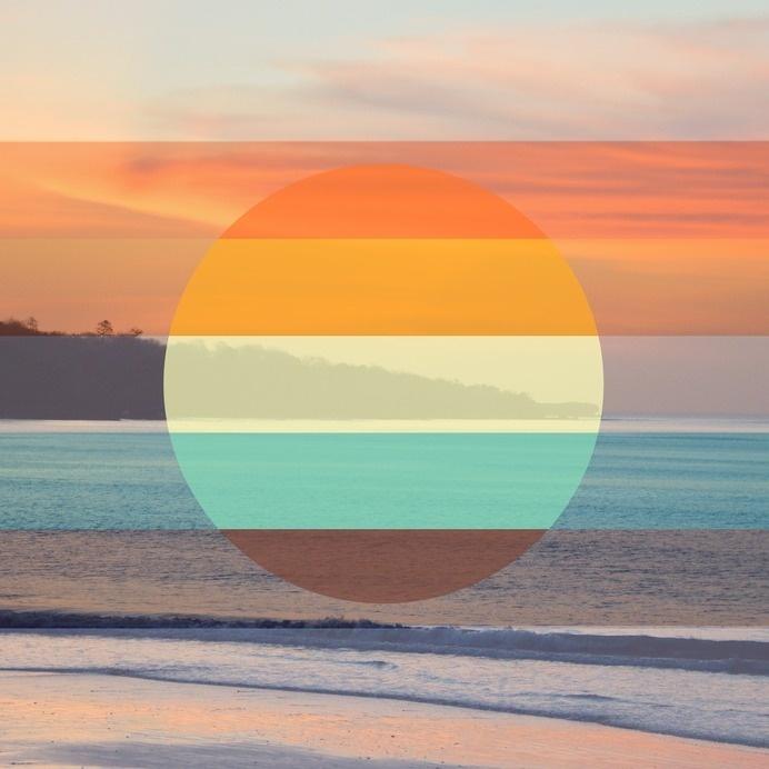 Bali #colored #sunset #circle #sea