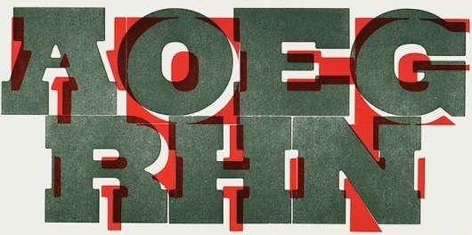 Nick Sherman > Design > Intercut typeface #woodtype #letterpress
