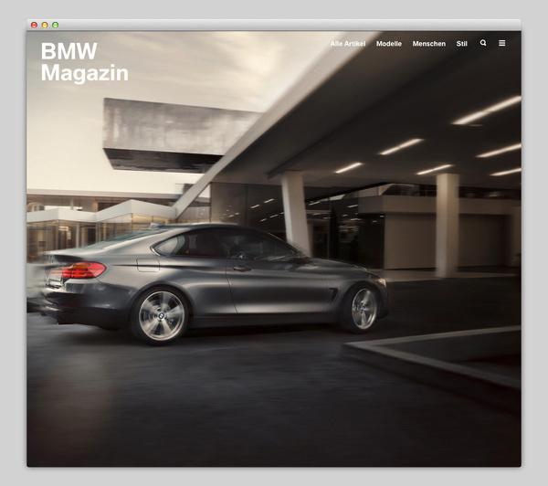 BMW Magazin #design #auto #website #web #layout #car